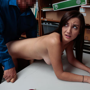 Shoplyfter Jade Amber caught and fucked from behind