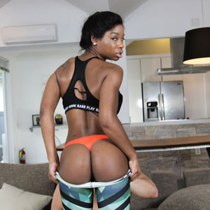 Mya Mays shows ass after workout