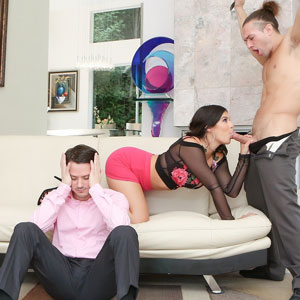 Violet Starr sucks hard dick